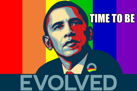 Obama gay marriage meme