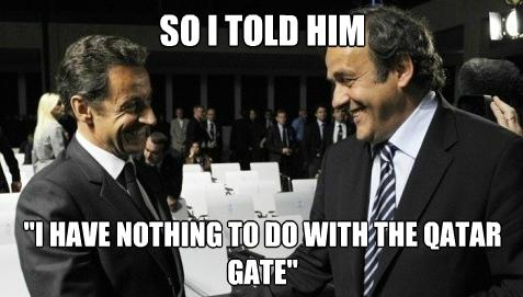 Platini Sarkozy Foot meme