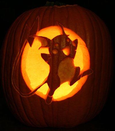 Les pok mons f tent halloween yzgeneration for Pokemon jack o lantern template
