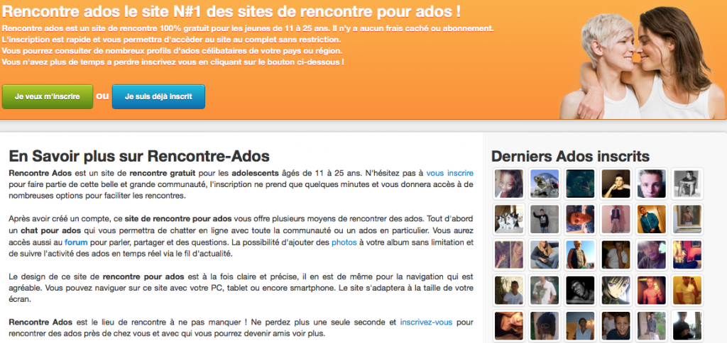 Site de rencontre ado forum