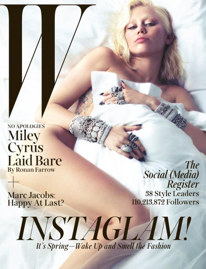 Miley Cyrus-W-Magazine