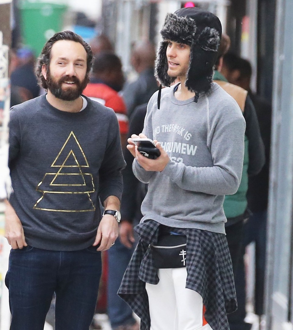 Exclusive... Jared Leto Out In Paris With Friends