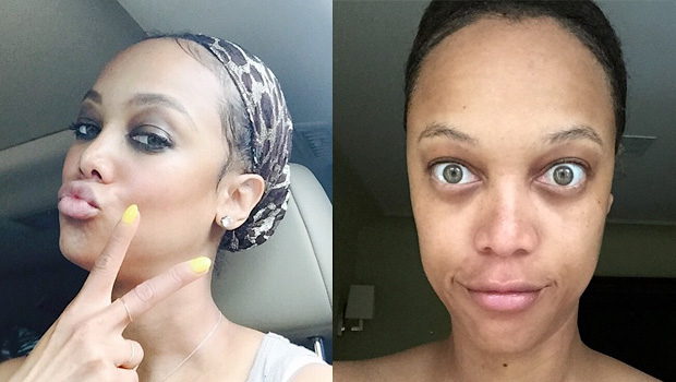 tyra banks avec et sans maquillage   aouch
