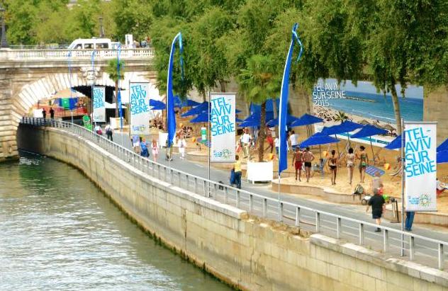 Tel aviv sur seine cette journ e sur paris plages qui d range tant yzgeneration - Piscine plage paris asnieres sur seine ...