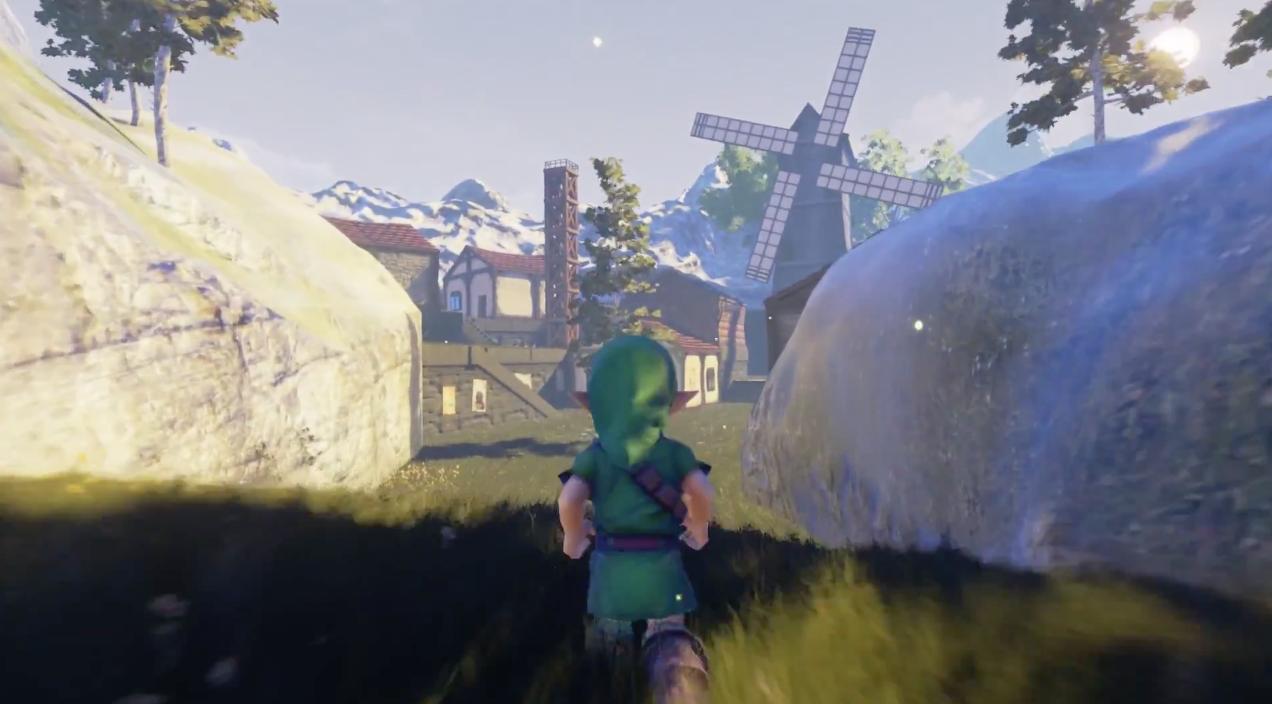 Ocarina-Of-Time-Unreal-Engine-4-Village-Cocorico-2