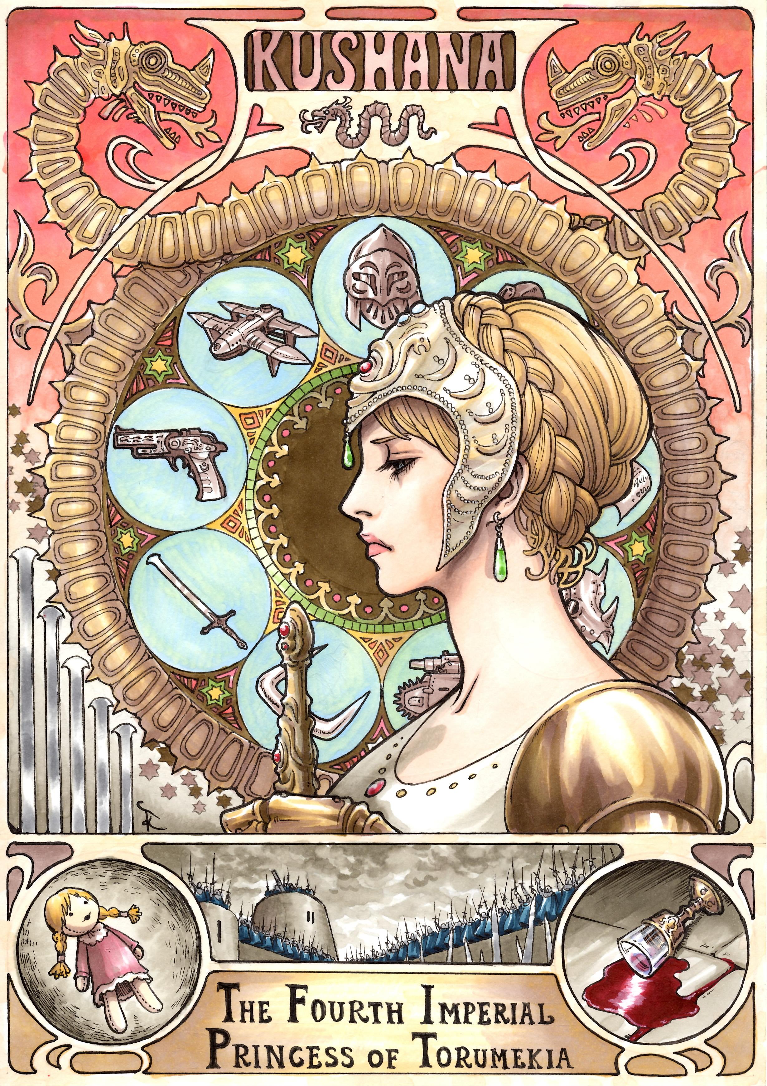 Art-Nouveau-Ghibli-Nausicaa-1
