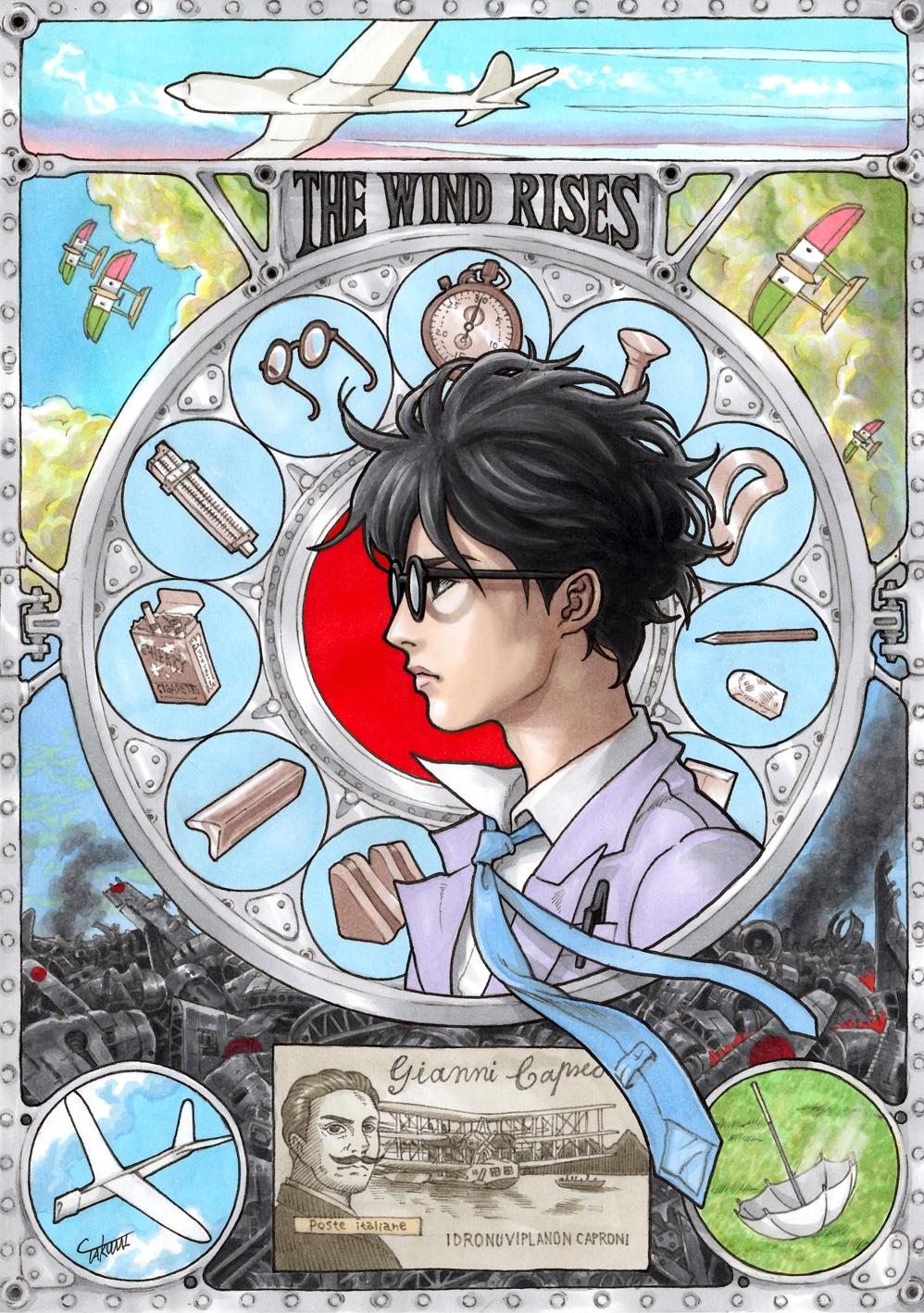 Art-Nouveau-Ghibli-Vent-Leve