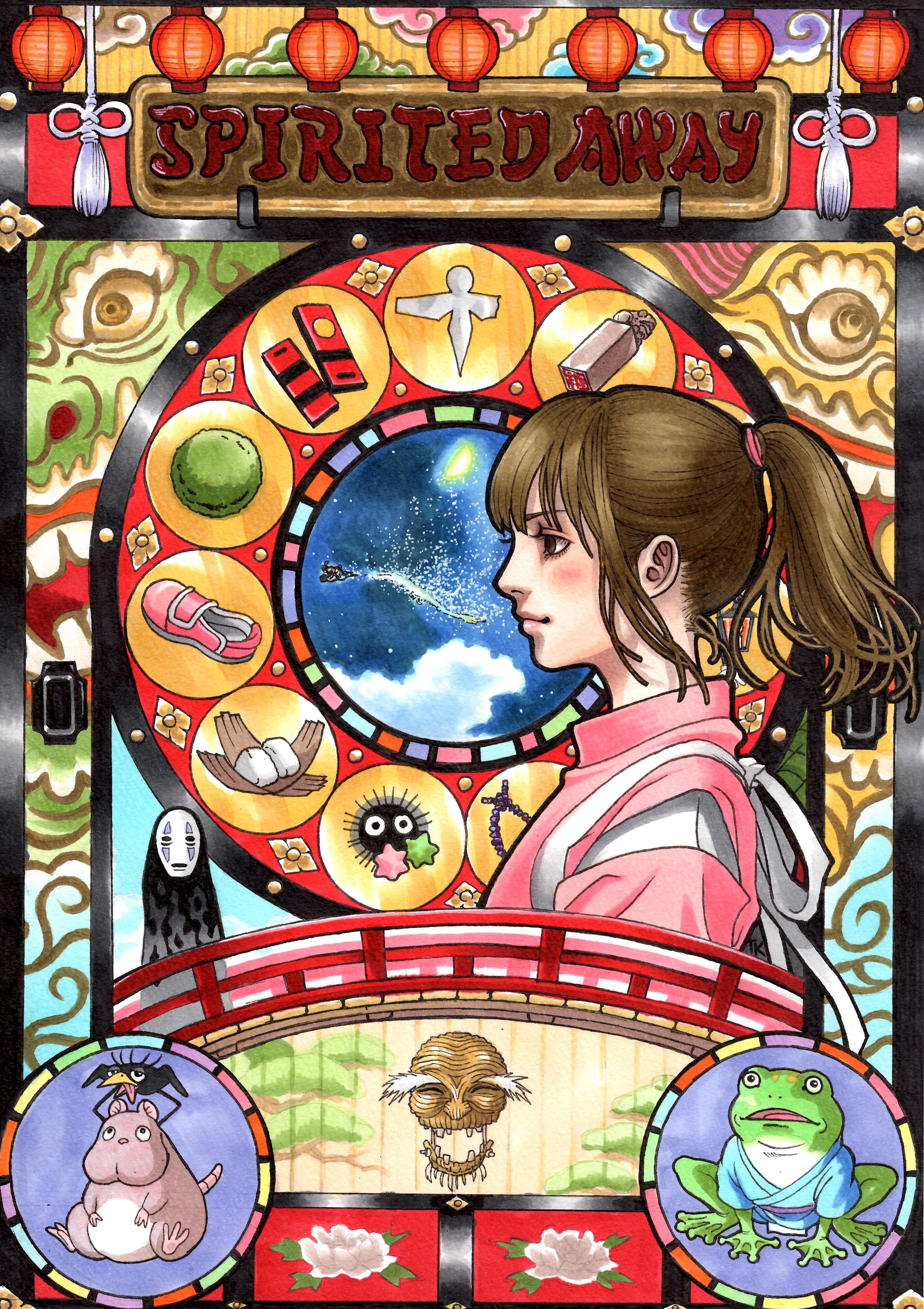 Art-Nouveau-Ghibli-Voyage-Chihiro