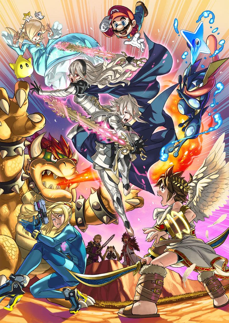 super smash bros x corrin le chevalier dragon rejoint la