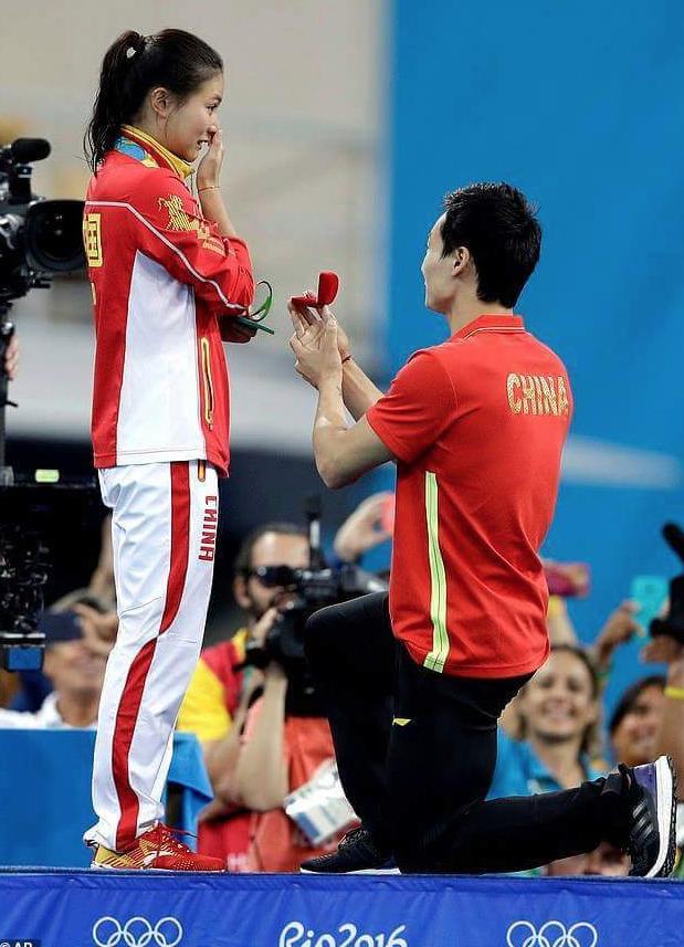 Rio-2016-Demande-Mariage-He-Zi-Qin-Kai-Plongeon-1