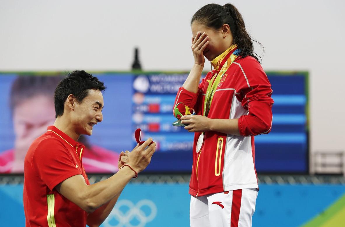 Rio-2016-Demande-Mariage-He-Zi-Qin-Kai-Plongeon-3