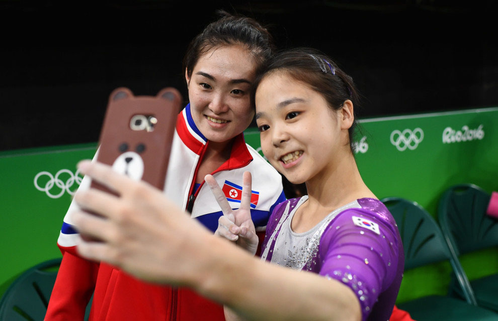 Selfie-Rio-2016-Coree-Nord-Sud-1