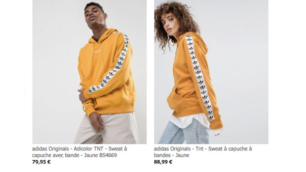 sweat adidas homme jaune