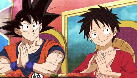 """Résultat de recherche d'images pour """"goku and luffy crossover"""""""